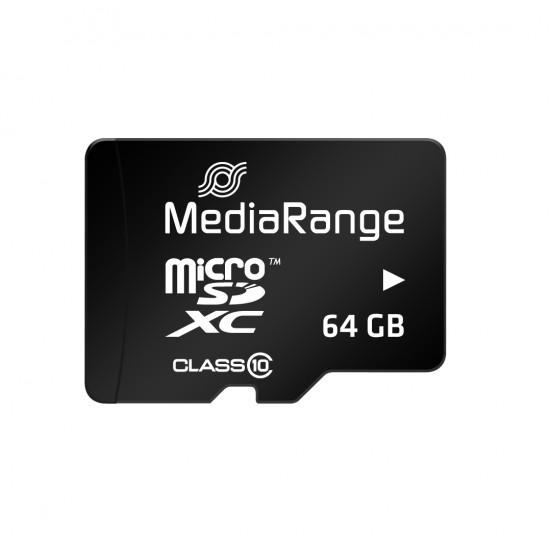 MediaRange Micro SDXC UHS-I U1 Card 64GB + adapter