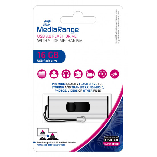 MediaRange USB 3.0 Flash Drive, 16GB
