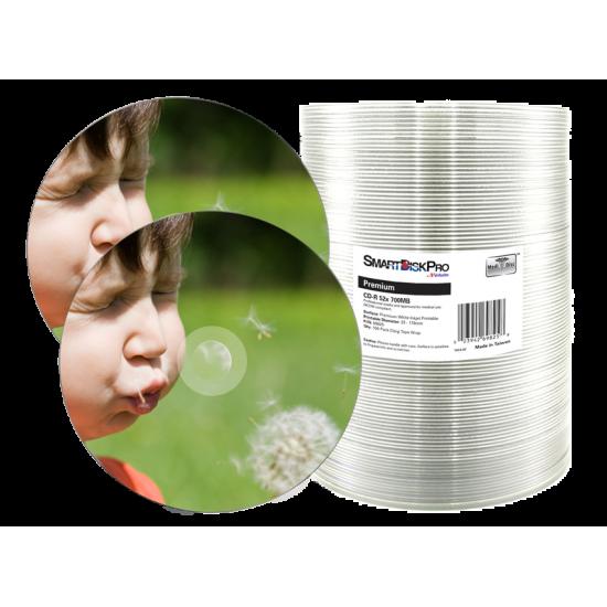 SmartDisk Pro CD-R 700MB 52x Inkjet Printable 100pk