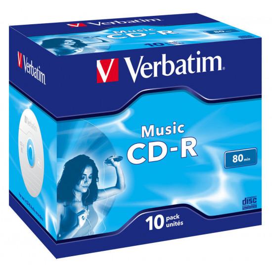 Verbatim Music CD-R 10pk  JC