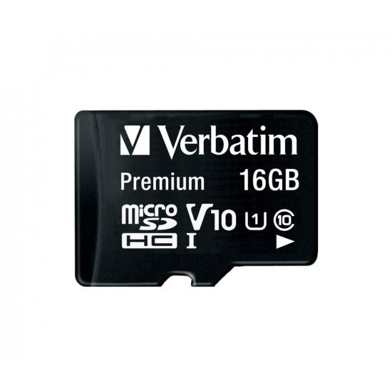 Verbatim Premium U1 MicroSDHC Card 16GB + adapter