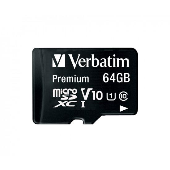 Verbatim Premium U1 MicroSDXC Card 64GB + adapter