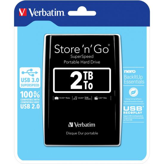 Verbatim 2.5'' Portable Hard Drive 2TB