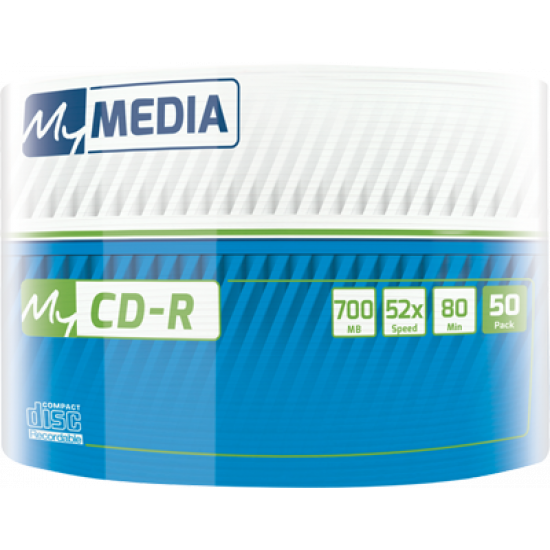 MyMedia CD‑R 52x 700MB Inkjet Printable 50pk