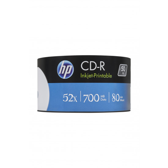 HP CD‑R 52x 700MB Inkjet Printable 50pk