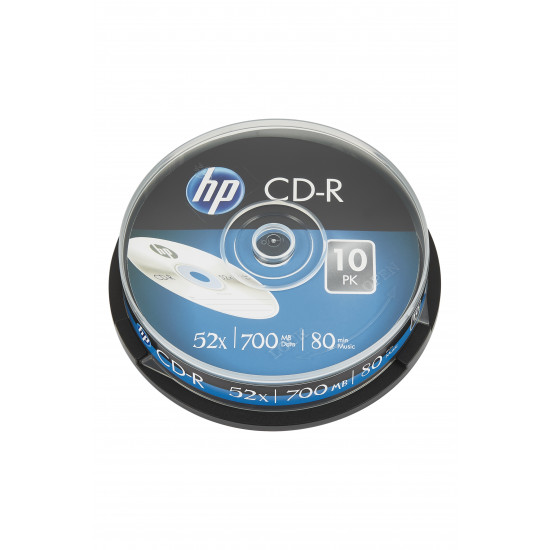 HP CD‑R 52x 700MB 10 pk